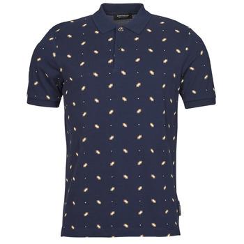 Oblečenie Muži Polokošele s krátkym rukávom Scotch & Soda ALL-OVER PRINTED PIQUE POLO Námornícka modrá