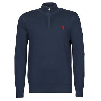 Oblečenie Muži Svetre Timberland LS WILLIAMS RIVER 1/4 ZIP Námornícka modrá
