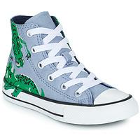 Topánky Deti Členkové tenisky Converse CHUCK TAYLOR ALL STAR DINO DAZE HI Modrá / Zelená