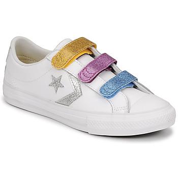 Topánky Dievčatá Nízke tenisky Converse STAR PLAYER 3V GLITTER TEXTILE OX Biela / Viacfarebná