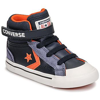 Topánky Deti Členkové tenisky Converse PRO BLAZE STRAP LEATHER TWIST HI Modrá