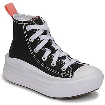 Topánky Dievčatá Členkové tenisky Converse CHUCK TAYLOR ALL STAR MOVE CANVAS HI Čierna / Ružová