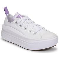 Topánky Dievčatá Nízke tenisky Converse CHUCK TAYLOR ALL STAR MOVE CANVAS OX Biela / Ružová