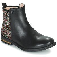 Topánky Dievčatá Polokozačky Acebo's 9917VE-NEGRO-T Čierna