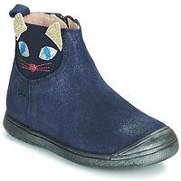Topánky Dievčatá Polokozačky Acebo's 3159SU-MARINO Námornícka modrá