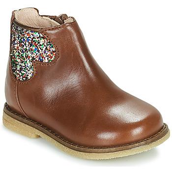 Topánky Dievčatá Polokozačky Acebo's 3202-CUERO-C Hnedá