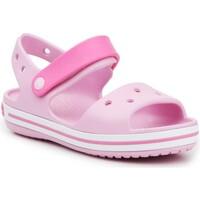 Topánky Dievčatá Sandále Crocs Crocband Sandal Kids12856-6GD pink