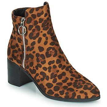 Topánky Ženy Čižmičky Moony Mood PETROLIA Ťavia hnedá