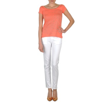 Oblečenie Ženy Rifle Slim  Calvin Klein Jeans JEAN BLANC BORDURE ARGENTEE Biela