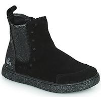 Topánky Dievčatá Polokozačky Mod'8 BLANOU Čierna / Trblietkavá