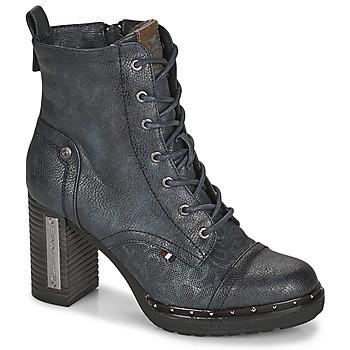 Topánky Ženy Čižmičky Mustang 1336502 Námornícka modrá