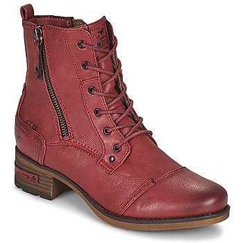 Topánky Ženy Polokozačky Mustang 1229513 Červená