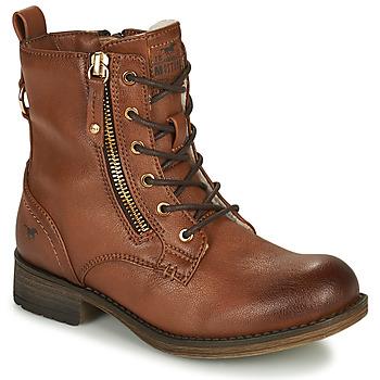 Topánky Dievčatá Polokozačky Mustang 5026-623-308 Hnedá