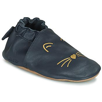 Topánky Dievčatá Detské papuče Robeez GOLDY CAT Námornícka modrá