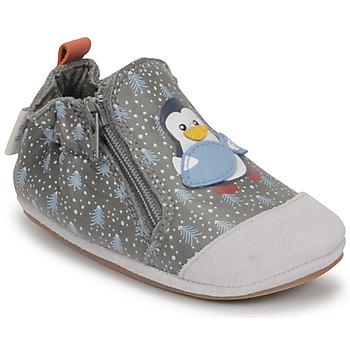 Topánky Chlapci Detské papuče Robeez BLUE PINGUINS Šedá
