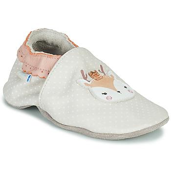 Topánky Dievčatá Detské papuče Robeez FANCY SNOW Béžová
