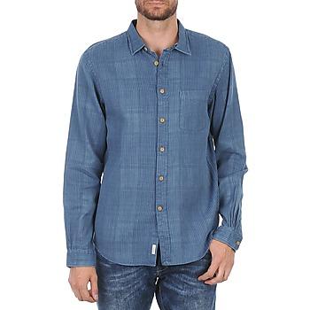 Oblečenie Muži Košele s dlhým rukávom Façonnable JJMCT502000ERE Modrá