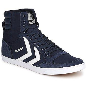 Topánky Členkové tenisky Hummel TEN STAR HIGH CANVAS Námornícka modrá