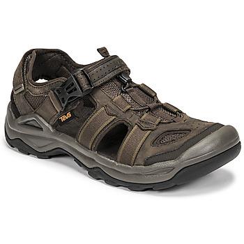 Topánky Muži Sandále Teva M OMNIUM 2 LEATHER Hnedá