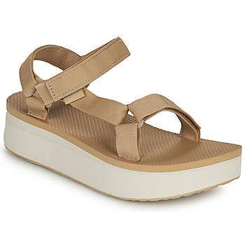 Topánky Ženy Sandále Teva Flatform Universal Béžová / Biela