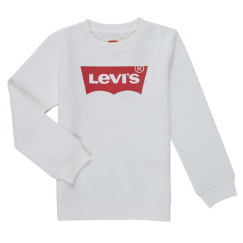 Oblečenie Chlapci Mikiny Levi's BATWING CREWNECK SWEATSHIRT Biela