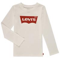 Oblečenie Dievčatá Tričká s dlhým rukávom Levi's LS BATWING TEE Biela