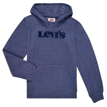 Oblečenie Chlapci Mikiny Levi's GRAPHIC PULLOVER HOODIE Námornícka modrá