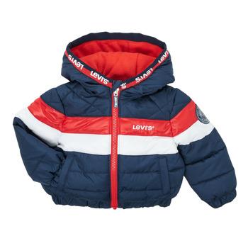 Oblečenie Chlapci Vyteplené bundy Levi's COLORBLOCK JACKET Modrá / Červená / Et  / Biela