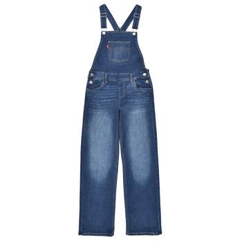 Oblečenie Dievčatá Módne overaly Levi's SHOECUTOVERALL Modrá