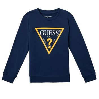 Oblečenie Chlapci Mikiny Guess CANISE Modrá