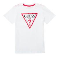 Oblečenie Chlapci Tričká s krátkym rukávom Guess MILLO Biela