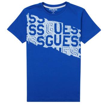 Oblečenie Chlapci Tričká s krátkym rukávom Guess LISTIN Modrá