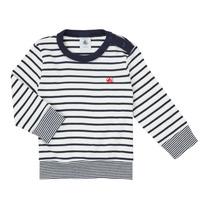 Oblečenie Chlapci Tričká s dlhým rukávom Petit Bateau IGRAE Biela / Modrá