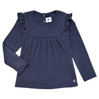 Oblečenie Dievčatá Tričká s dlhým rukávom Petit Bateau IWAKA Námornícka modrá