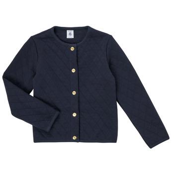 Oblečenie Dievčatá Cardigany Petit Bateau COLYNNE Modrá
