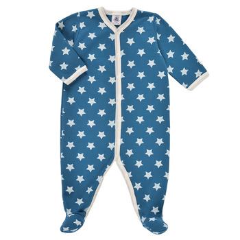Oblečenie Chlapci Pyžamá a nočné košele Petit Bateau SOLARIE Modrá / Biela