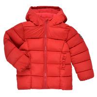 Oblečenie Dievčatá Vyteplené bundy Petit Bateau TYLA Červená