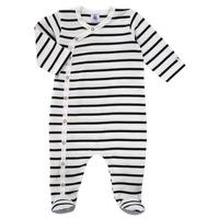 Oblečenie Deti Pyžamá a nočné košele Petit Bateau ONZER Biela / Námornícka modrá
