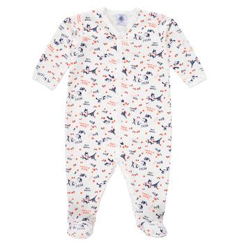 Oblečenie Dievčatá Pyžamá a nočné košele Petit Bateau LEA Viacfarebná