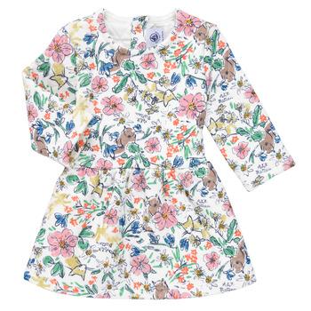 Oblečenie Dievčatá Krátke šaty Petit Bateau ROPPAL Viacfarebná