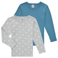 Oblečenie Chlapci Tričká s dlhým rukávom Petit Bateau HOQUIN Viacfarebná