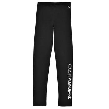 Oblečenie Dievčatá Legíny Calvin Klein Jeans MERCA Čierna