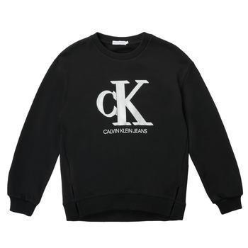 Oblečenie Dievčatá Mikiny Calvin Klein Jeans POLLI Čierna