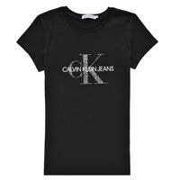 Oblečenie Dievčatá Tričká s krátkym rukávom Calvin Klein Jeans VOYAT Čierna