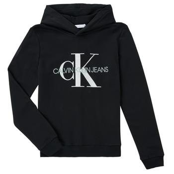 Oblečenie Deti Mikiny Calvin Klein Jeans TRINIDA Čierna
