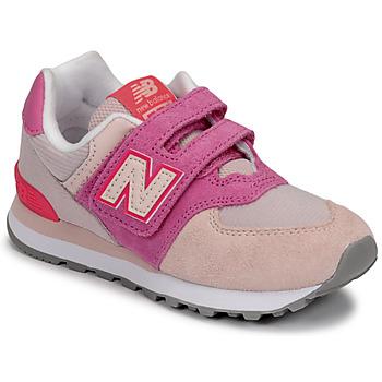 Topánky Dievčatá Nízke tenisky New Balance 574 Ružová / Fialová