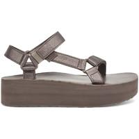 Topánky Ženy Sandále Teva Flatform Universal Leather Women's Metallic Bronze