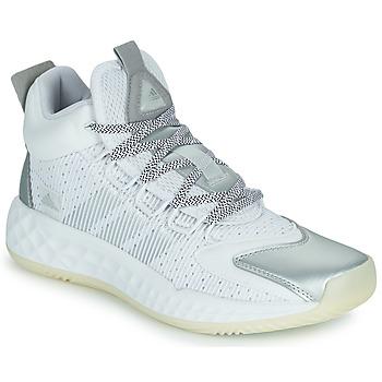 Topánky Basketbalová obuv adidas Performance PRO BOOST MID Biela / Strieborná