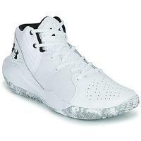 Topánky Muži Basketbalová obuv Under Armour JET '21 Biela / Biela