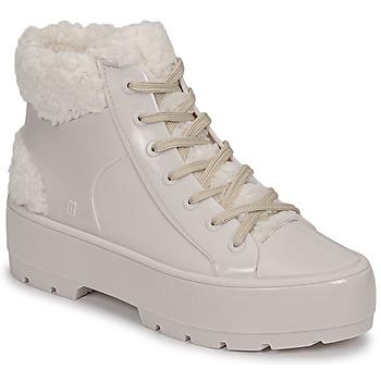 Topánky Ženy Polokozačky Melissa MELISSA FLUFFY SNEAKER AD Béžová / Biela